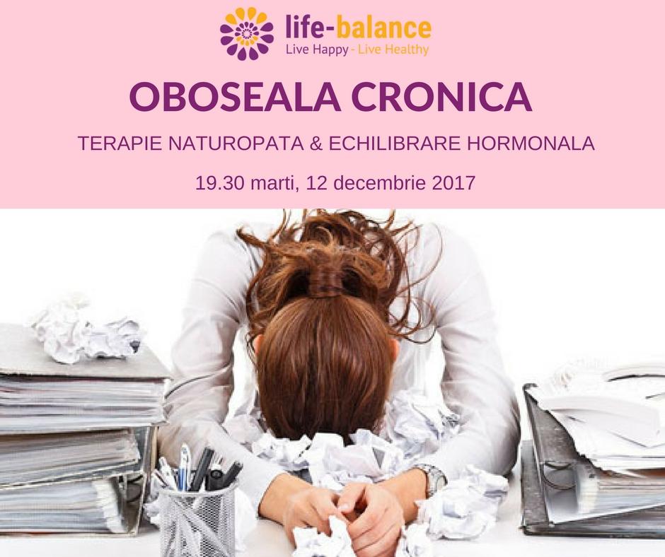 Oboseala Cronica (Burnout) - terapia naturopata & echilibrare hormonala